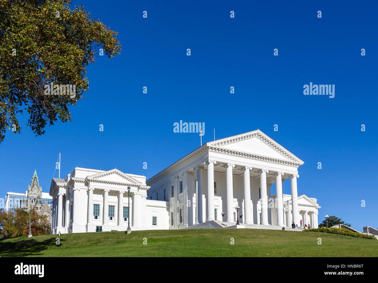 Virginia State Capitol, Richmond, Virginia - Stock Image