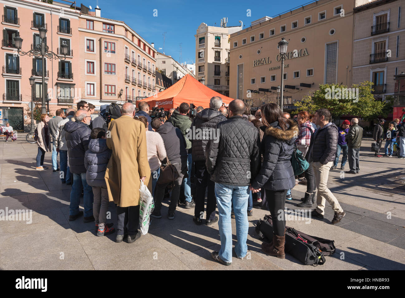 Madrid, Spain - November 13, 2016: Ciudadanos, spanish politic group douring a meeting on November 13, 2016 in Madrid, - Stock Image