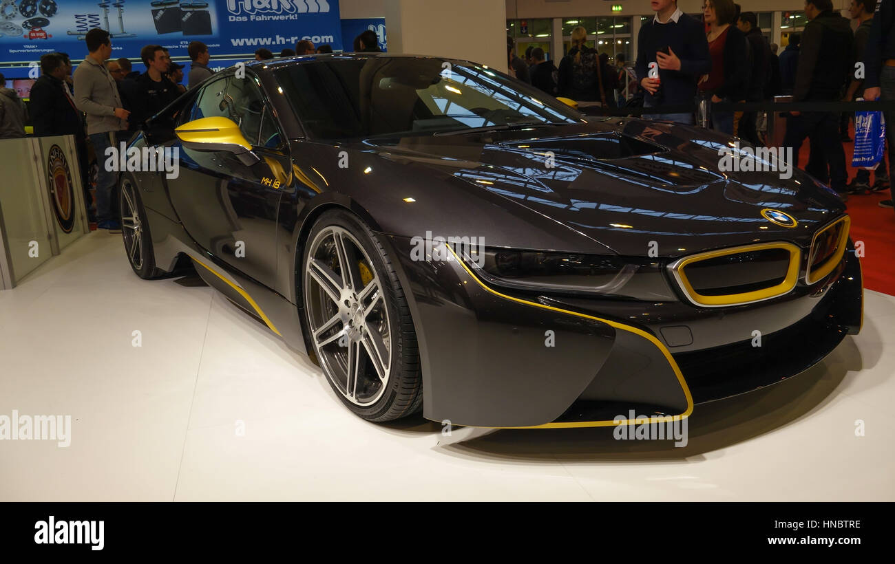 BMW i at indoor motorshow exhibition - Stock Image