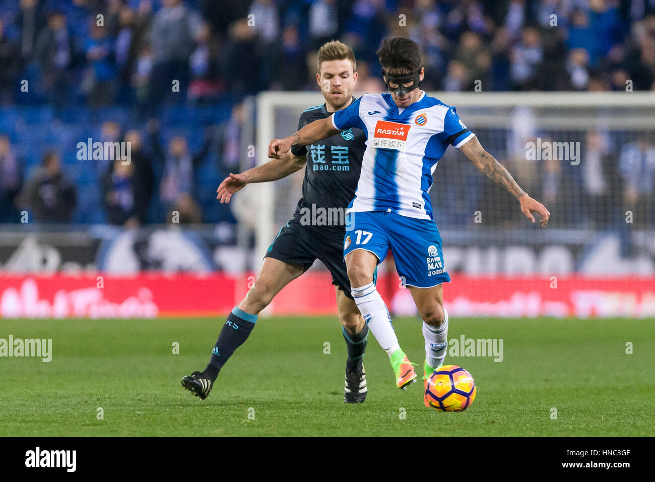 February 10, 2017: Hernan Perez during the match between RCD Espanyol vs Real Sociedad, for the round 22 of the - Stock Image