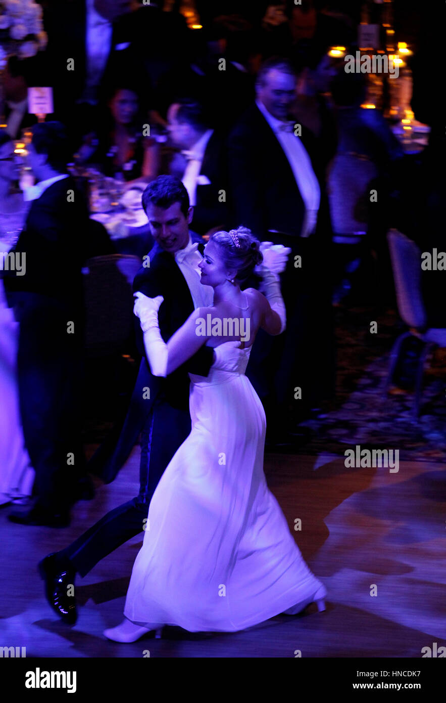 New York, United States. 10th Feb, 2017. Attendees at the 62nd Viennese Opera Ball at the Waldorf Astoria Hotel - Stock Image