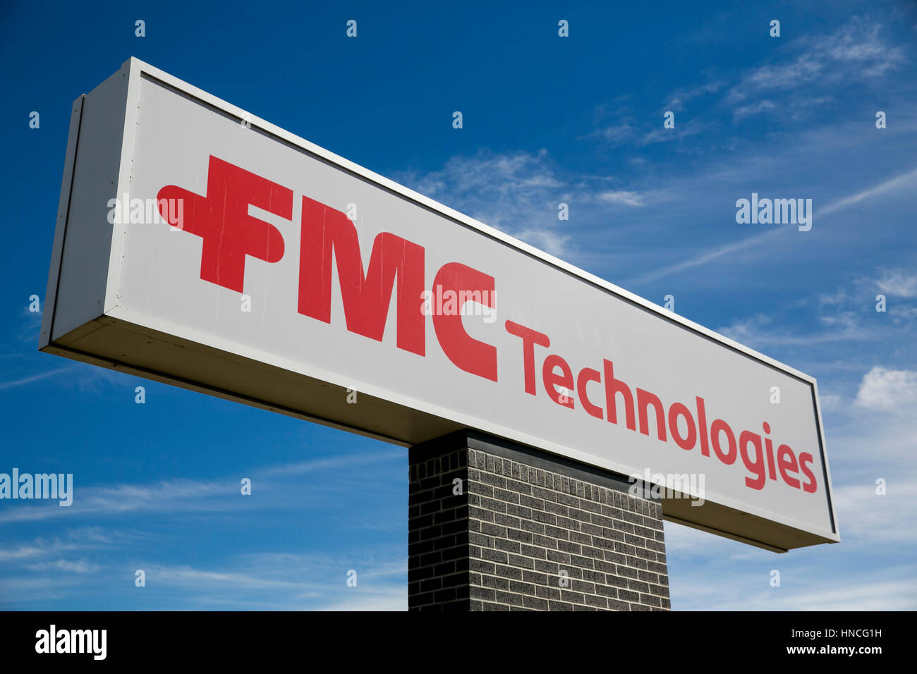 A logo sign outside of a facility occupied by FMC Technologies in San Antonio, Texas on January 29, 2017. - Stock Image