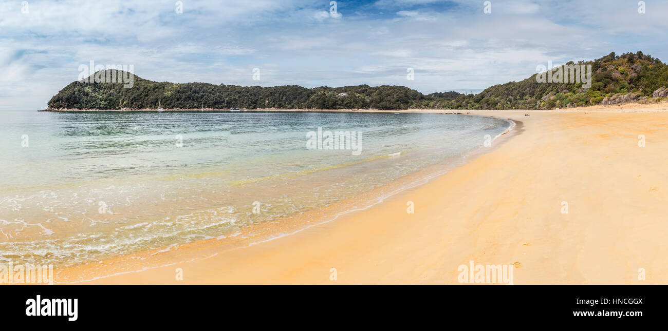 Anchorage Bay Beach, Abel Tasman National Park, Tasman Region, Southland, New Zealand - Stock Image
