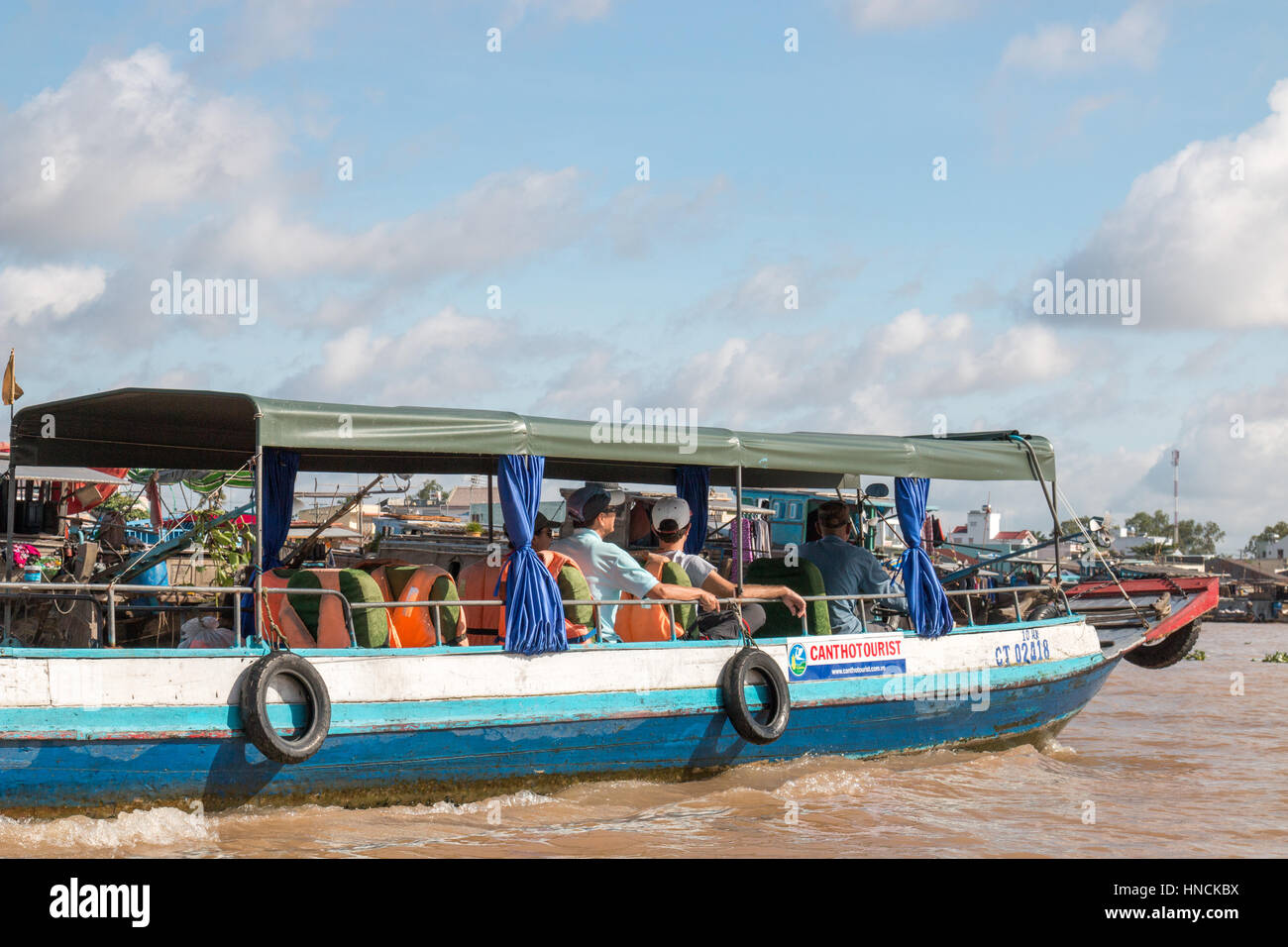 Cai Rang floating markets on the Mekong delta in Vietnam, Asia - Stock Image
