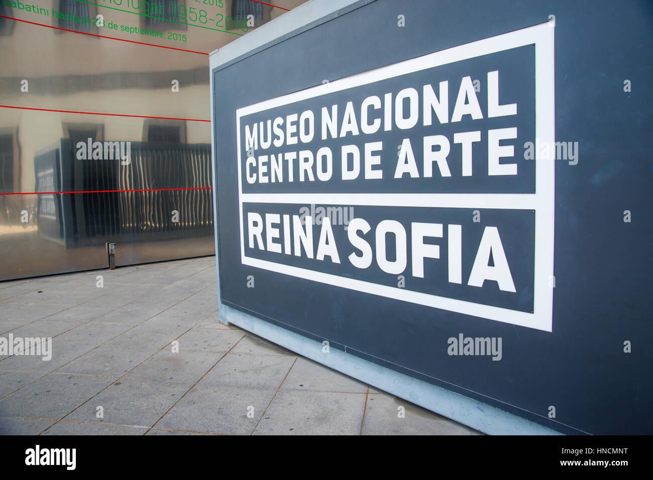 Entrance. Centro de Arte Reina Sofia National Museum, Madrid, Spain. - Stock Image