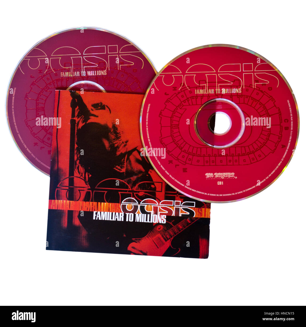 Oasis Familiar To Millions Music CD - Stock Image