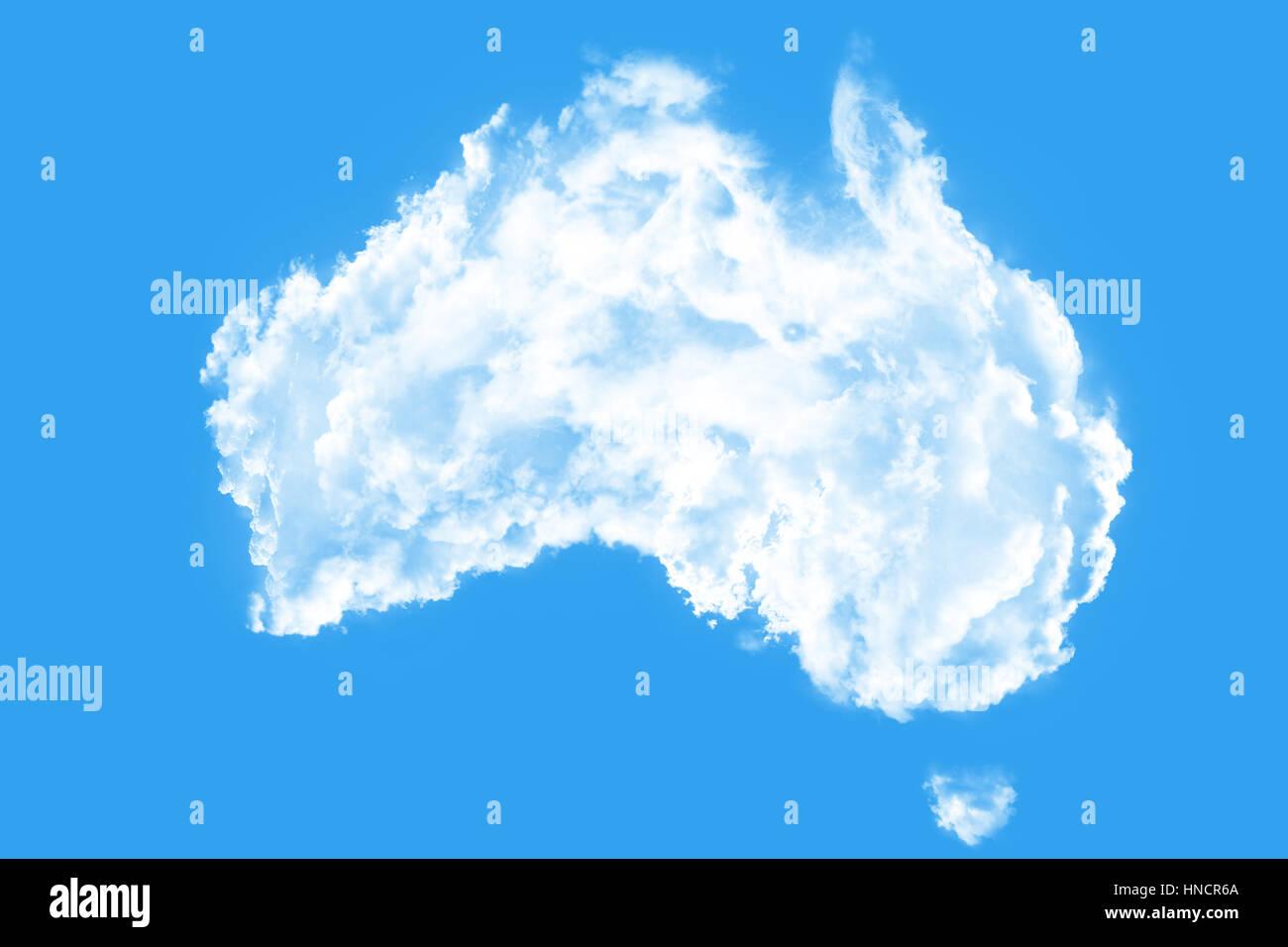 Australia Map Shape.Australia Map Shape Clouds Stock Photo 133661986 Alamy