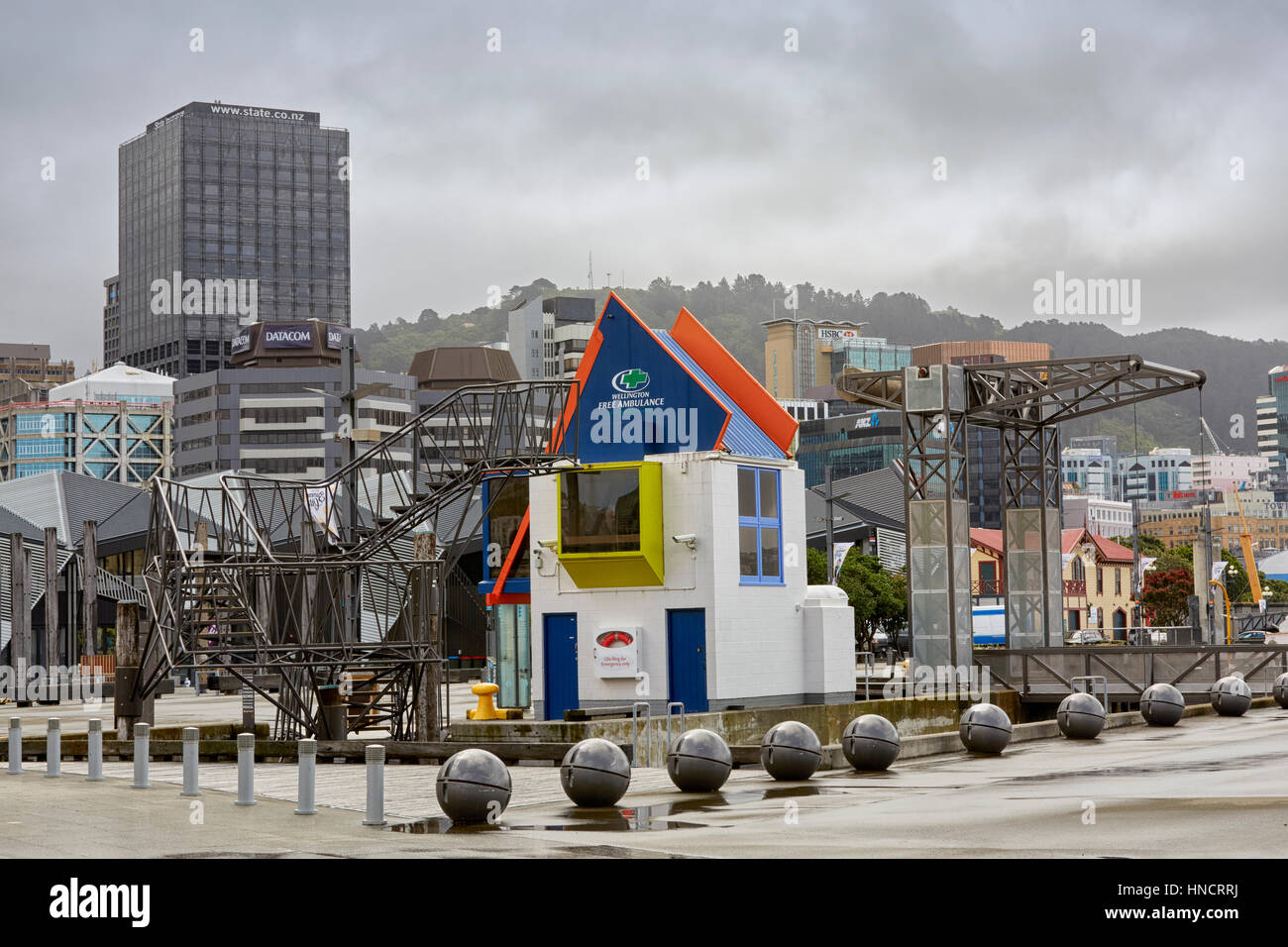 Free Ambulance building, Wellington, New Zealand - Stock Image