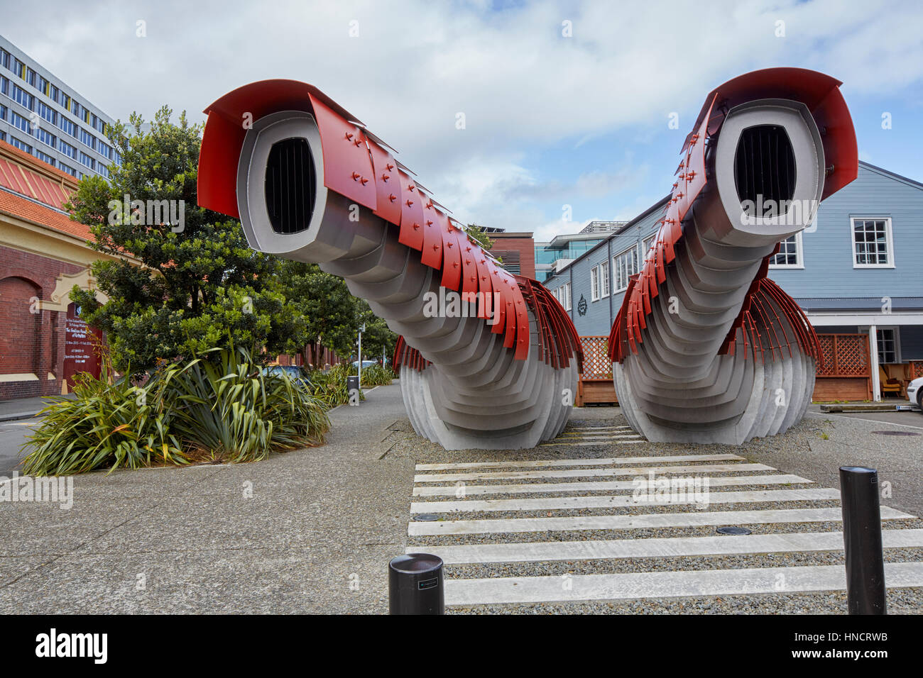 Lobster Loos, public toilets, Queens Wharf, Wellington, New Zealand Stock Photo