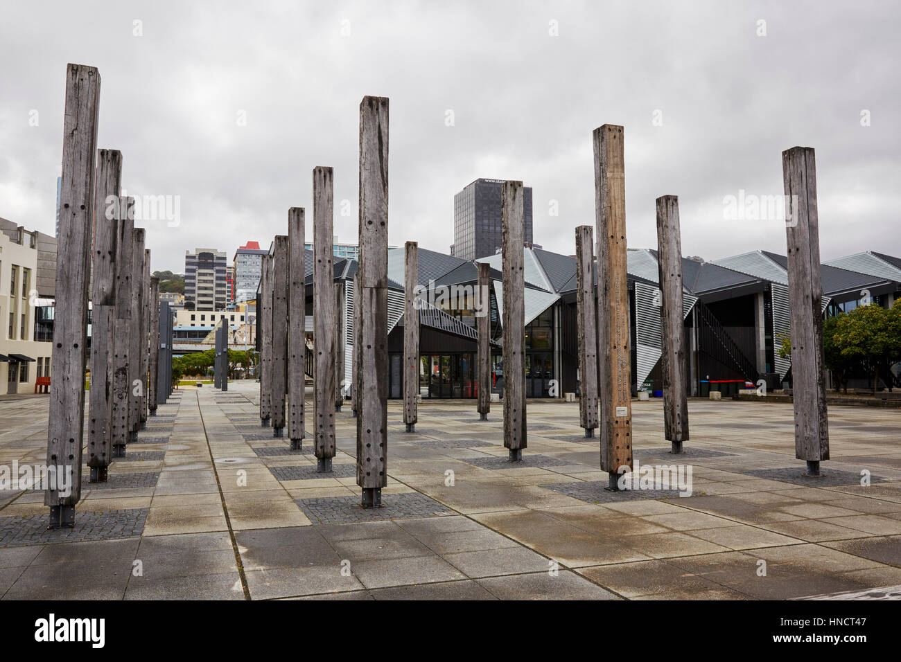 Jack Lasenby Sculpture, Writers Walk, Wellington, New Zealand - Stock Image