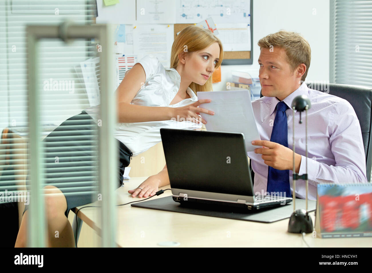 Office love affair concept - Stock Image