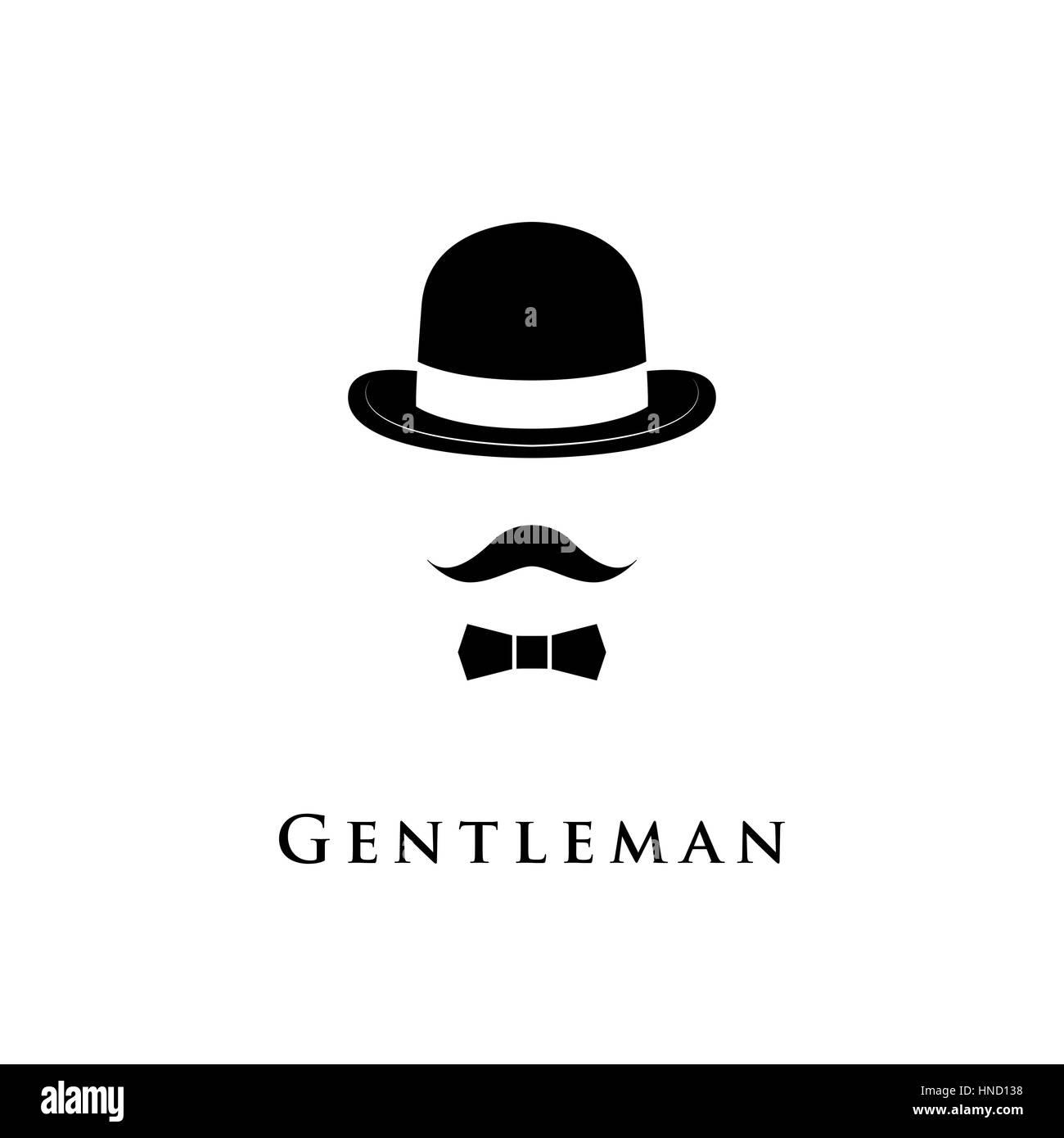 Bowler Hat Man Mustache Stock Photos & Bowler Hat Man ...