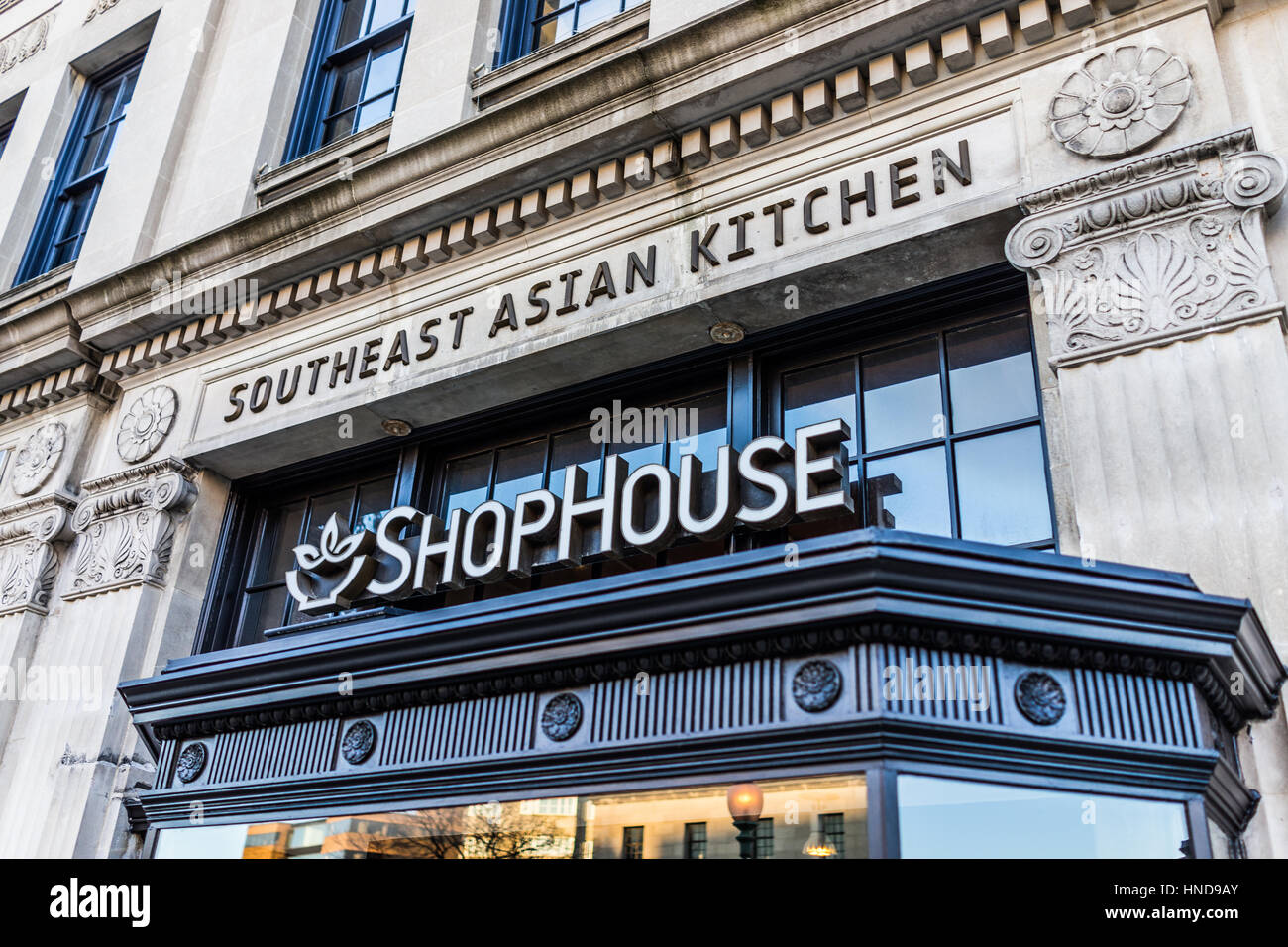 Washington DC, USA - February 5, 2017: Shophouse fast food restaurant on Dupont Circle, owned by Chipotle - Stock Image