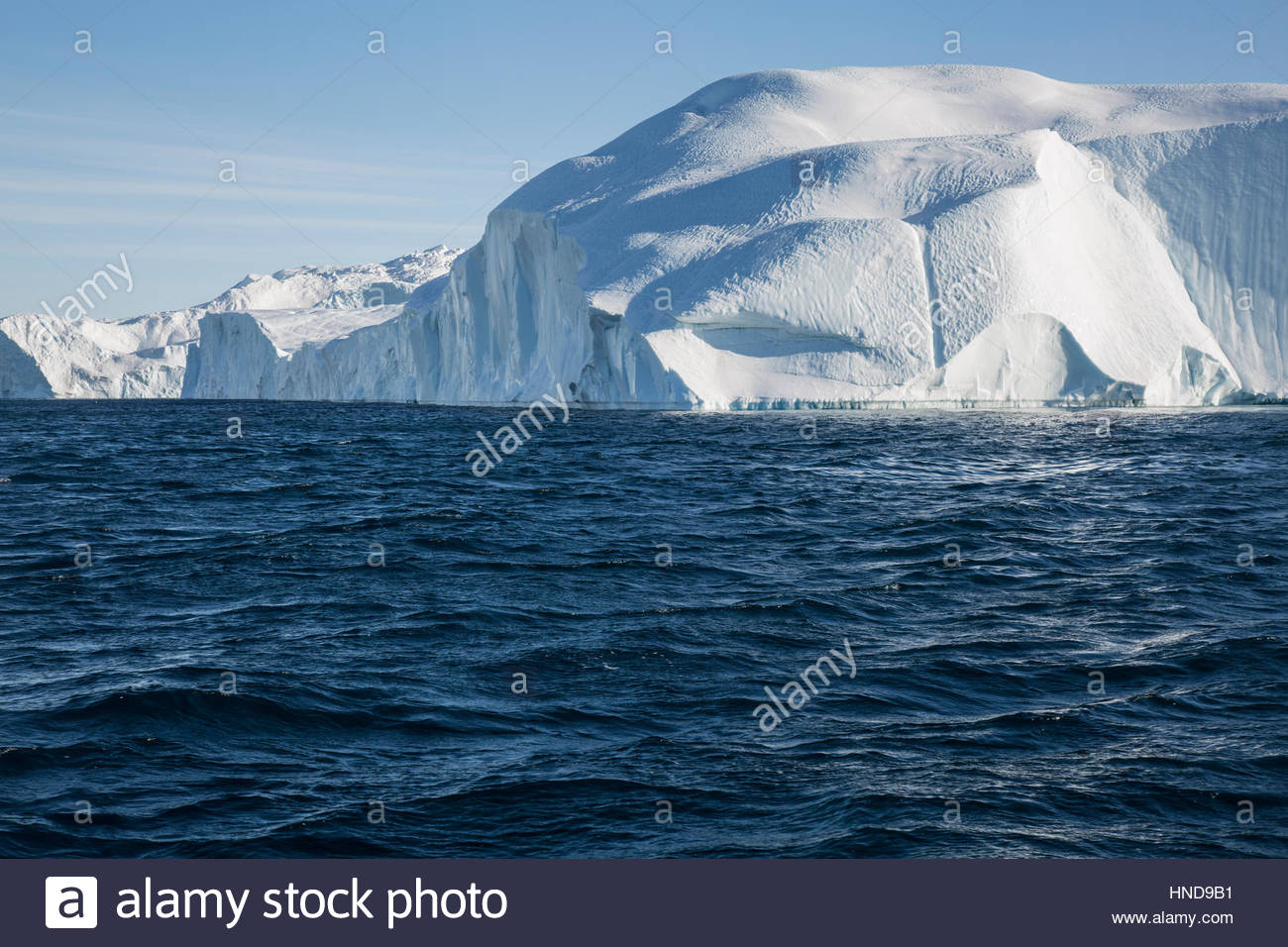 Iceberg in Greenland Sailing around Icefjord - Stock Image