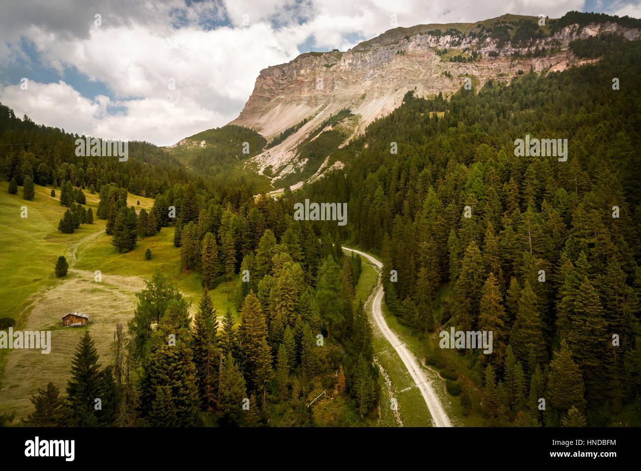 Seceda mountain, South Tyrol, Italy Stock Photo