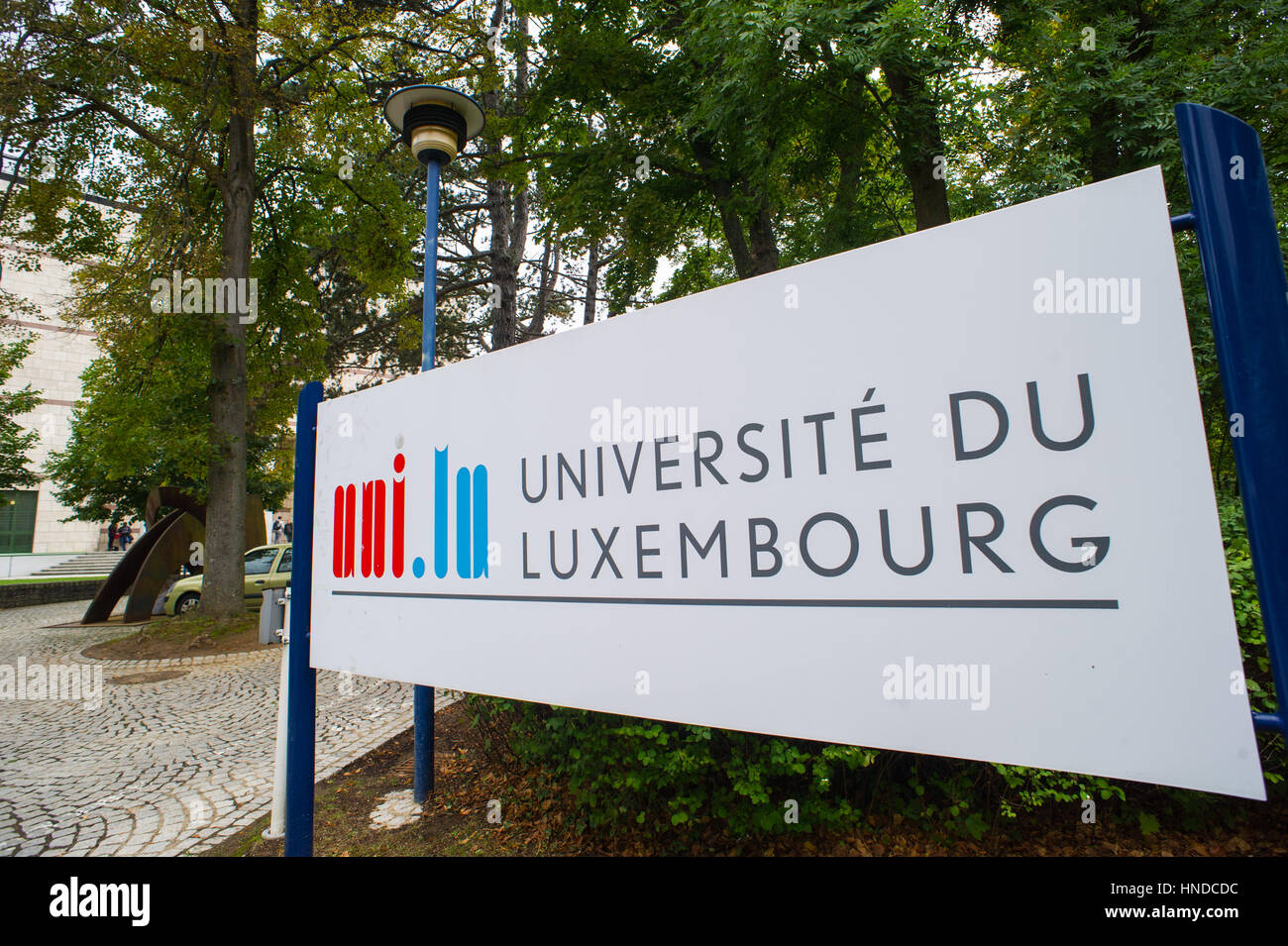 Luxembourg 17.09.2013 View of Luxembourg University in Limpersberg. - Stock Image