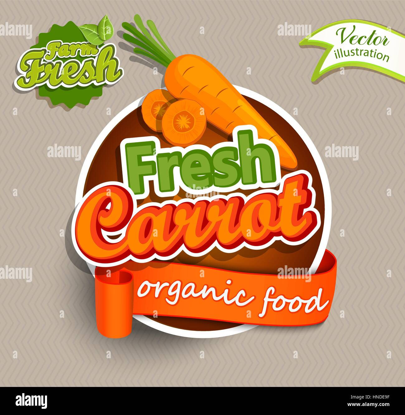 Fresh carrot logo lettering typography food label or sticker
