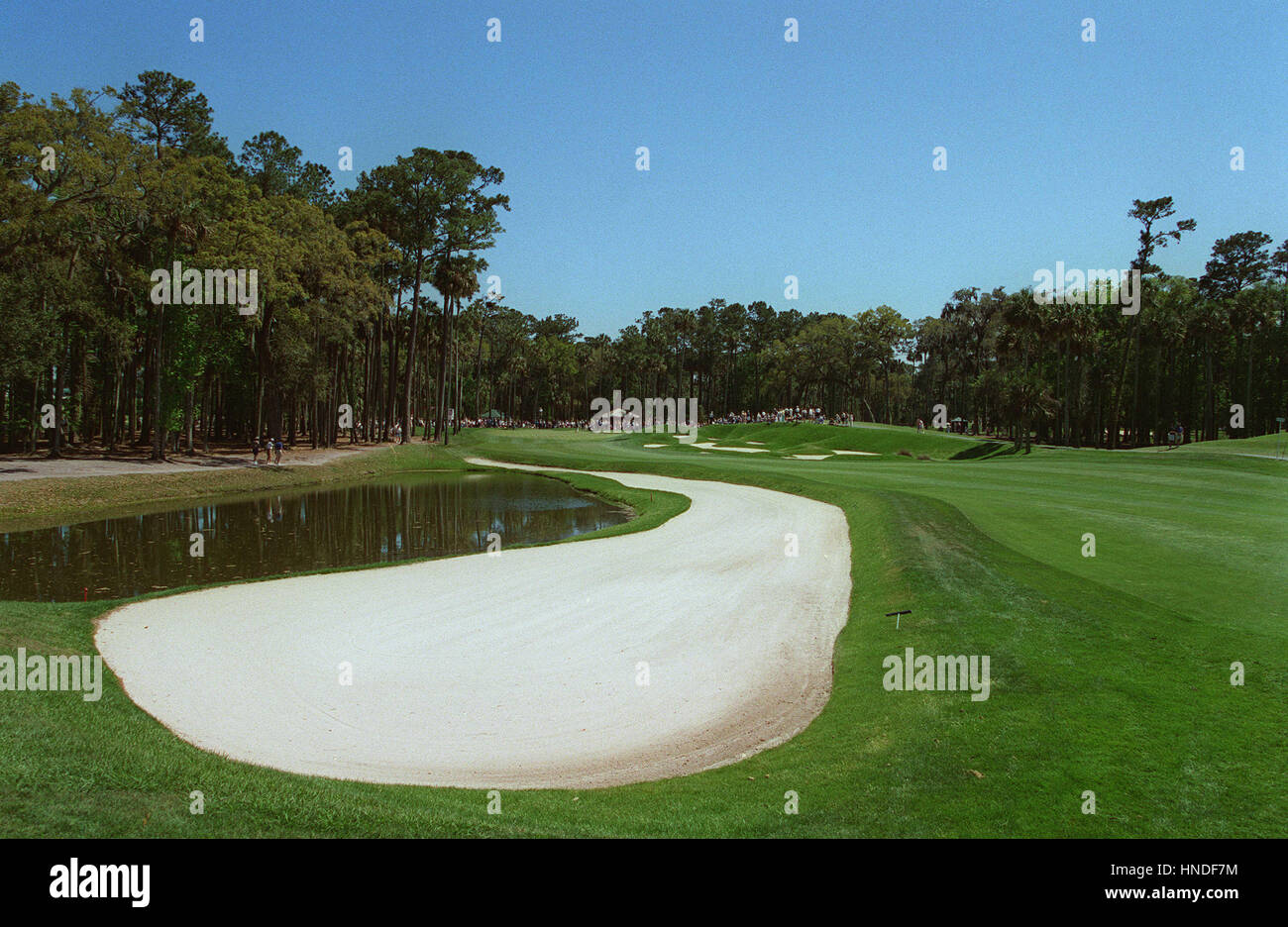 5TH FAIRWAY & GREEN SAWGRASS THE PLAYERS CHAMPIONSHIP 29 March 1995 - Stock Image