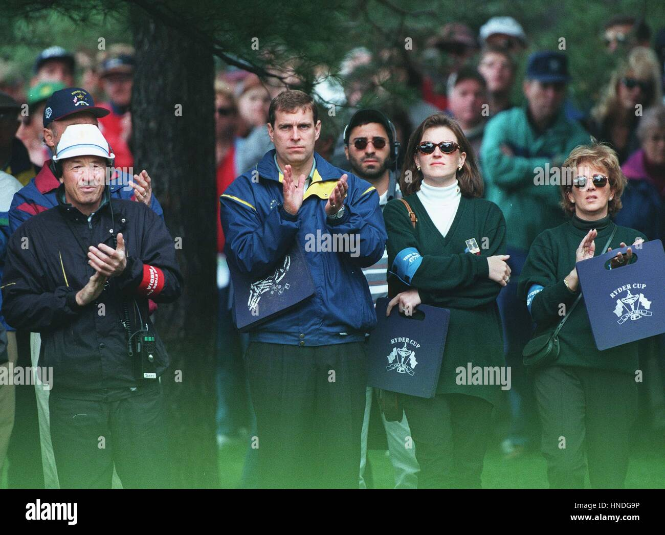 PRINCE ANDREW WATCHES THE RYDER CUP AT OAK HILL.N.Y. USA 02 October 1995  Stock Photo - Alamy