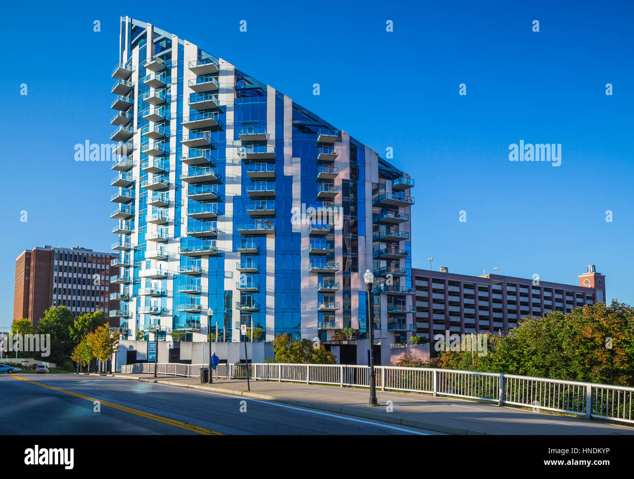 The unique architecture of a condominium in Cincinnati, Ohio, USA. - Stock Image
