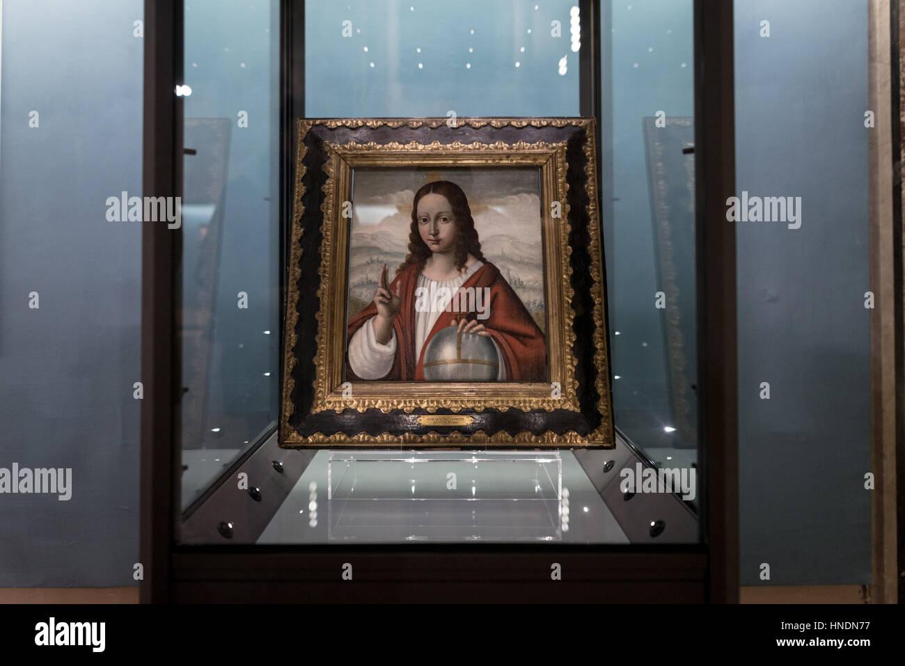 The controversial masterpiece by Leonardo Da Vinci 'Salvator
