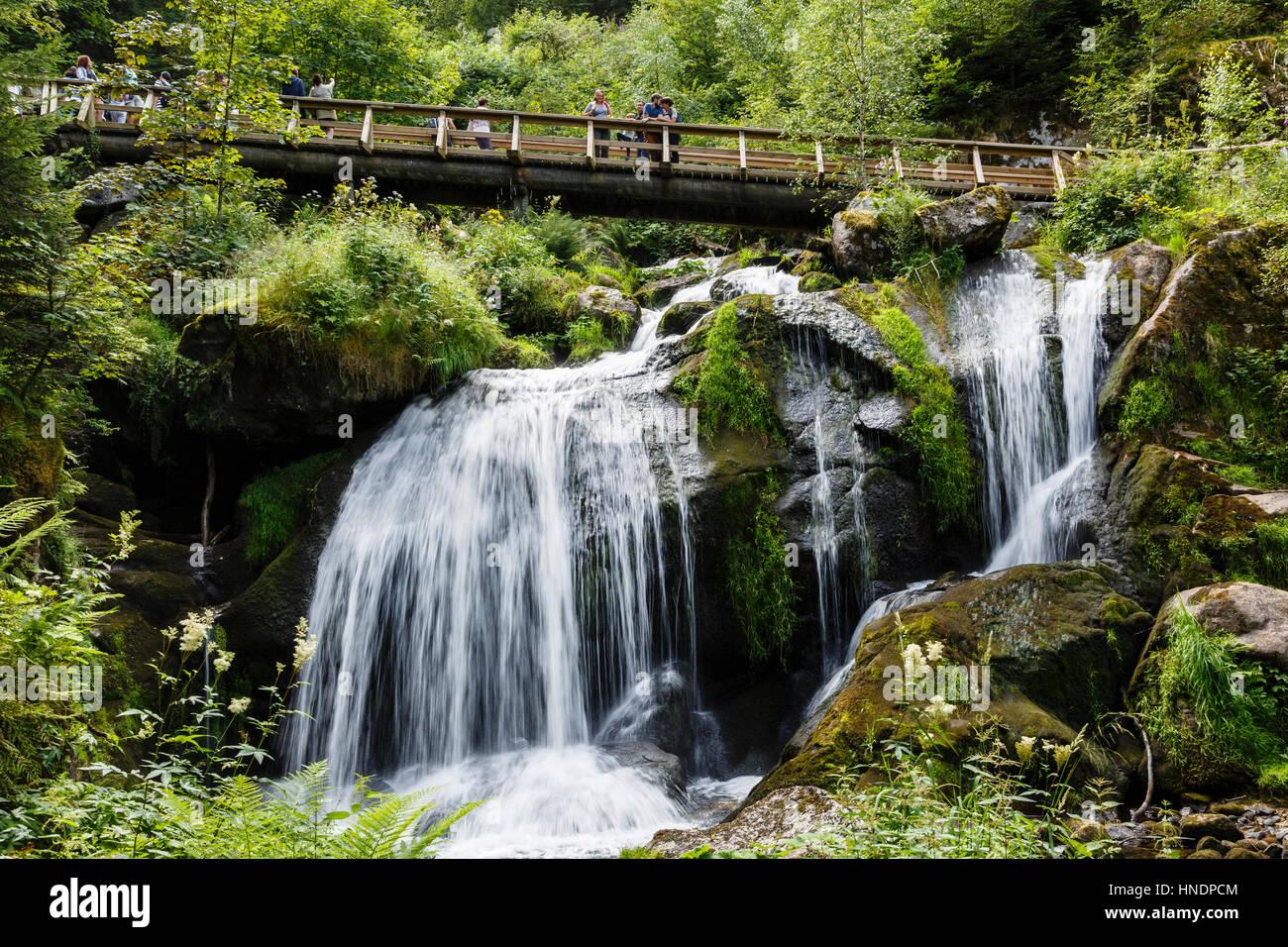 Triberg Waterfalls, Black Forest, Germany Stock Photo