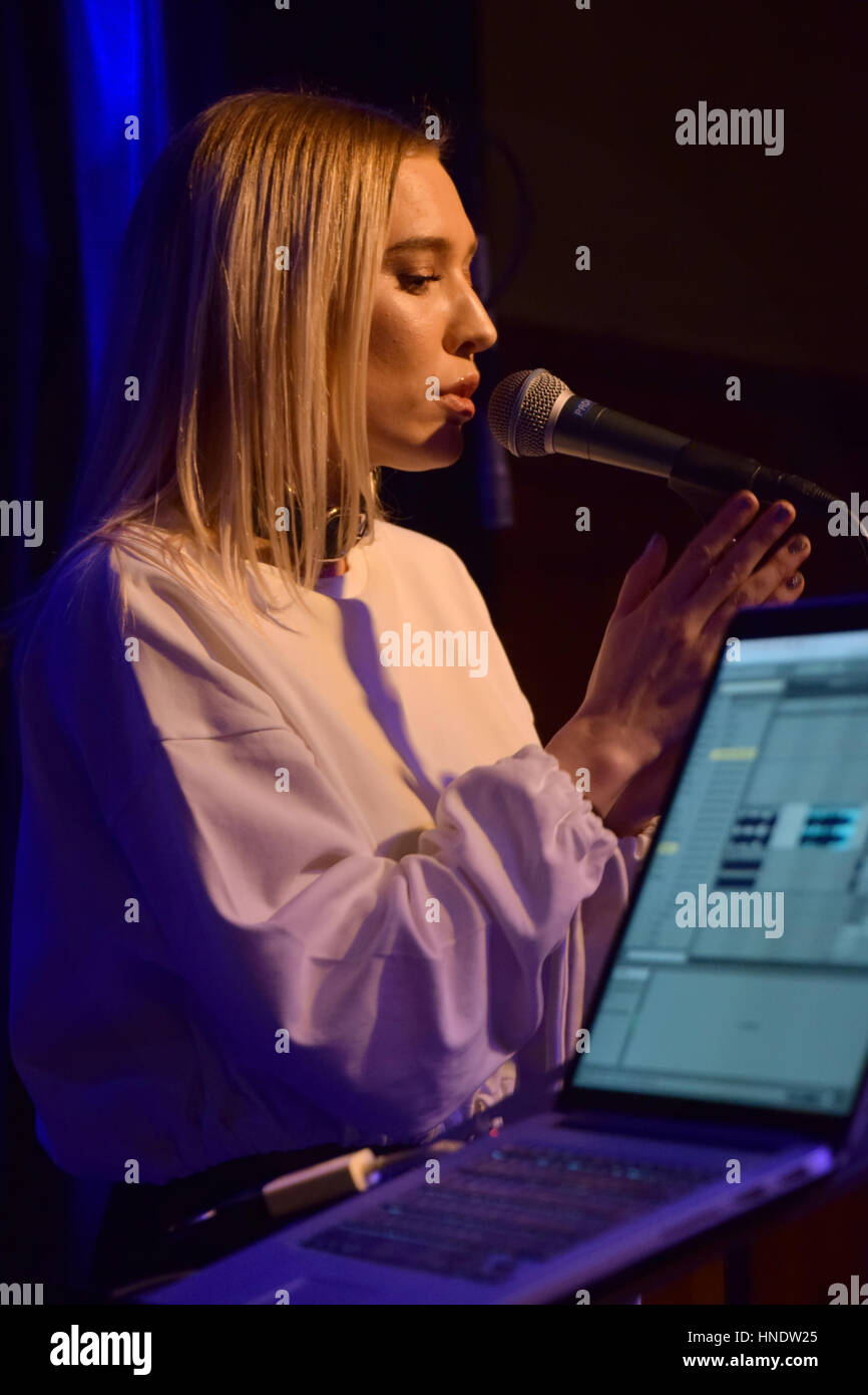 Elin Rigby at Where's the music? Festival 2017 in Norrköping Sweden - Stock Image