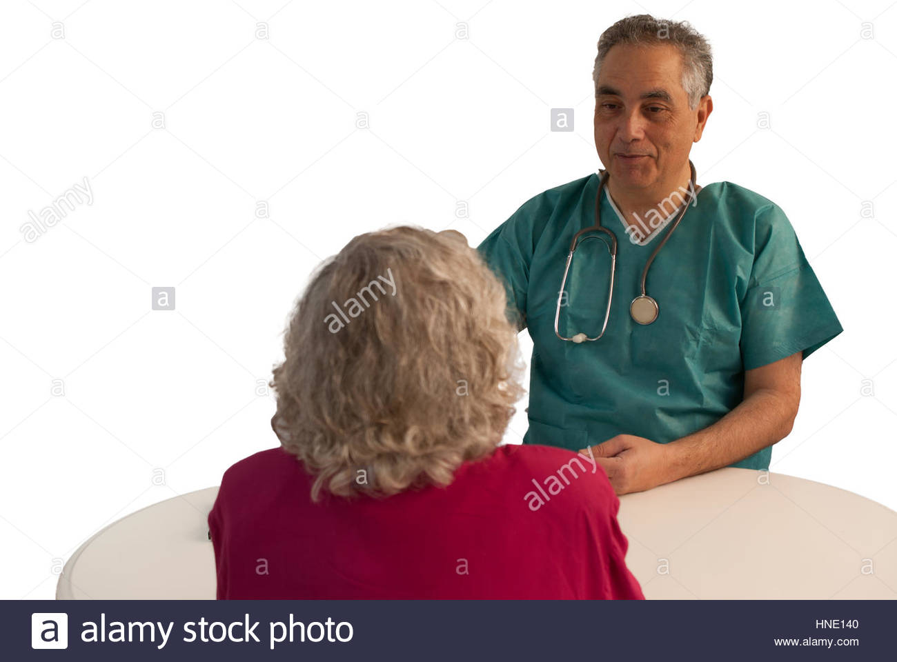 Surgeon consulting patient - Stock Image