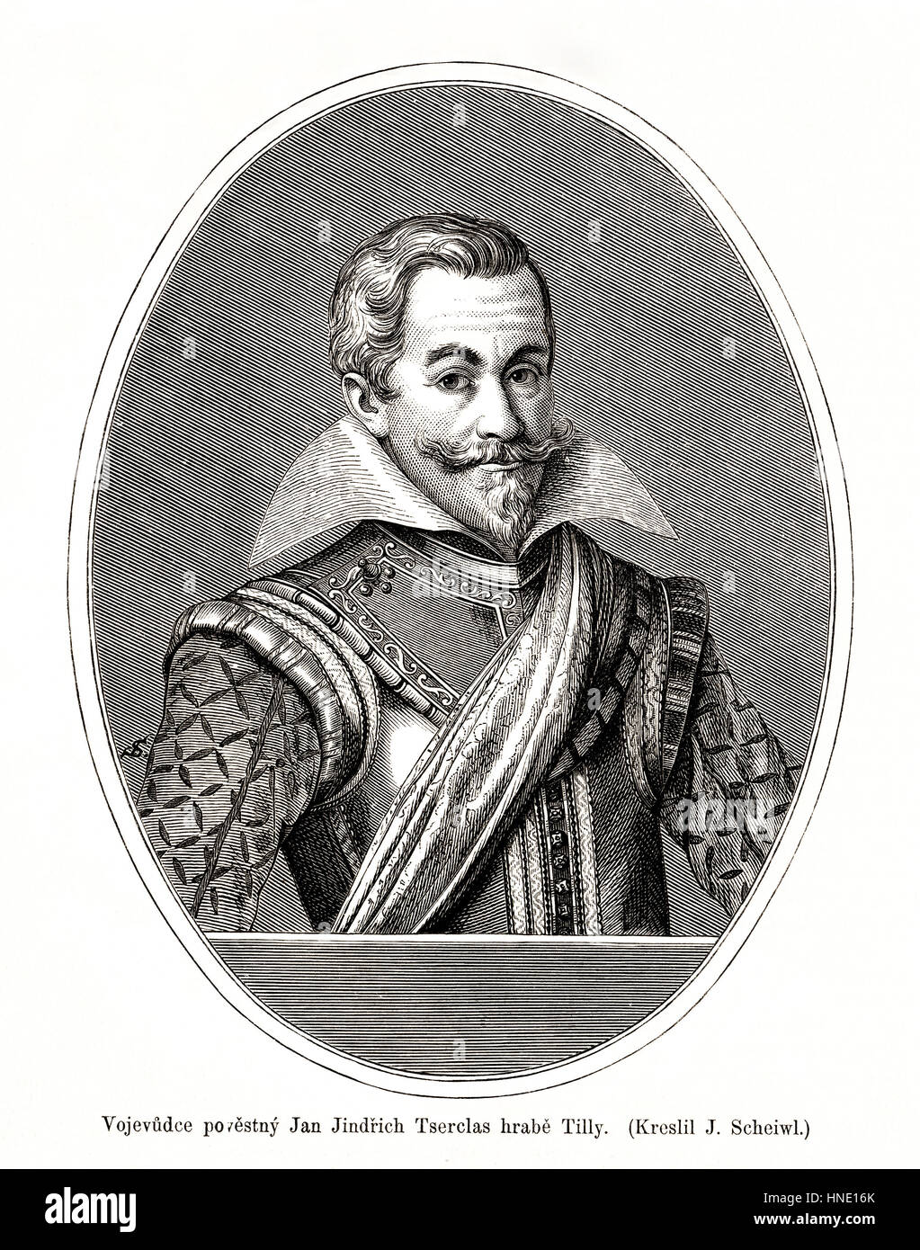 Johann Tserclaes, Count of Tilly, commander of the Catholic League in the Thirty Years' War. - Stock Image