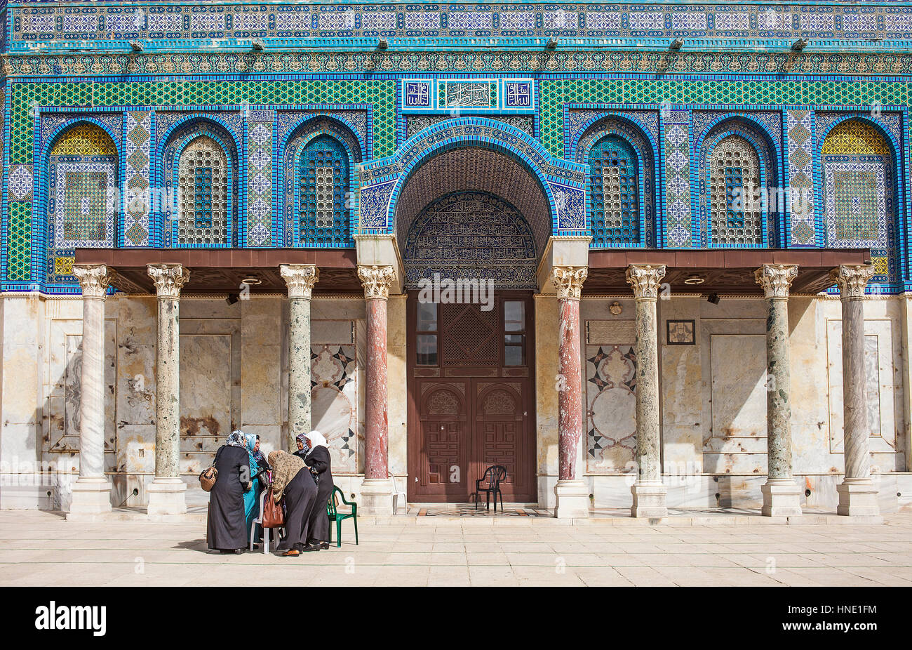 Detail, Dome of the Rock, Temple Mount (Har Ha Bayit), Jerusalem, Israel. - Stock Image