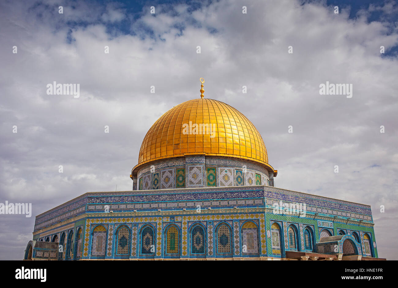 Dome of the Rock, Temple Mount (Har Ha Bayit), Jerusalem, Israel. - Stock Image
