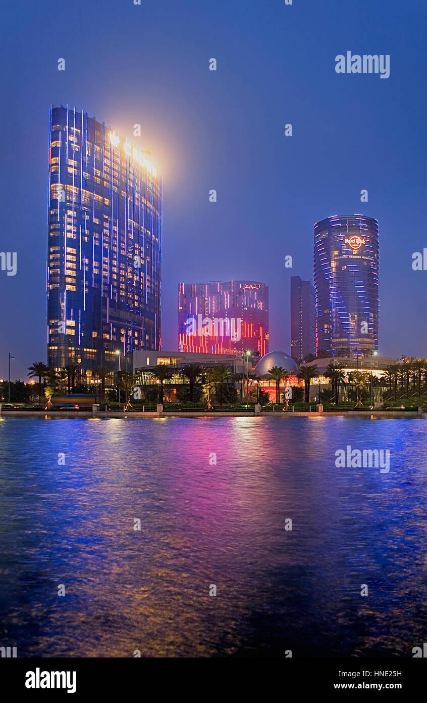 City of Dreams,Taipa island,Macau,China - Stock Image