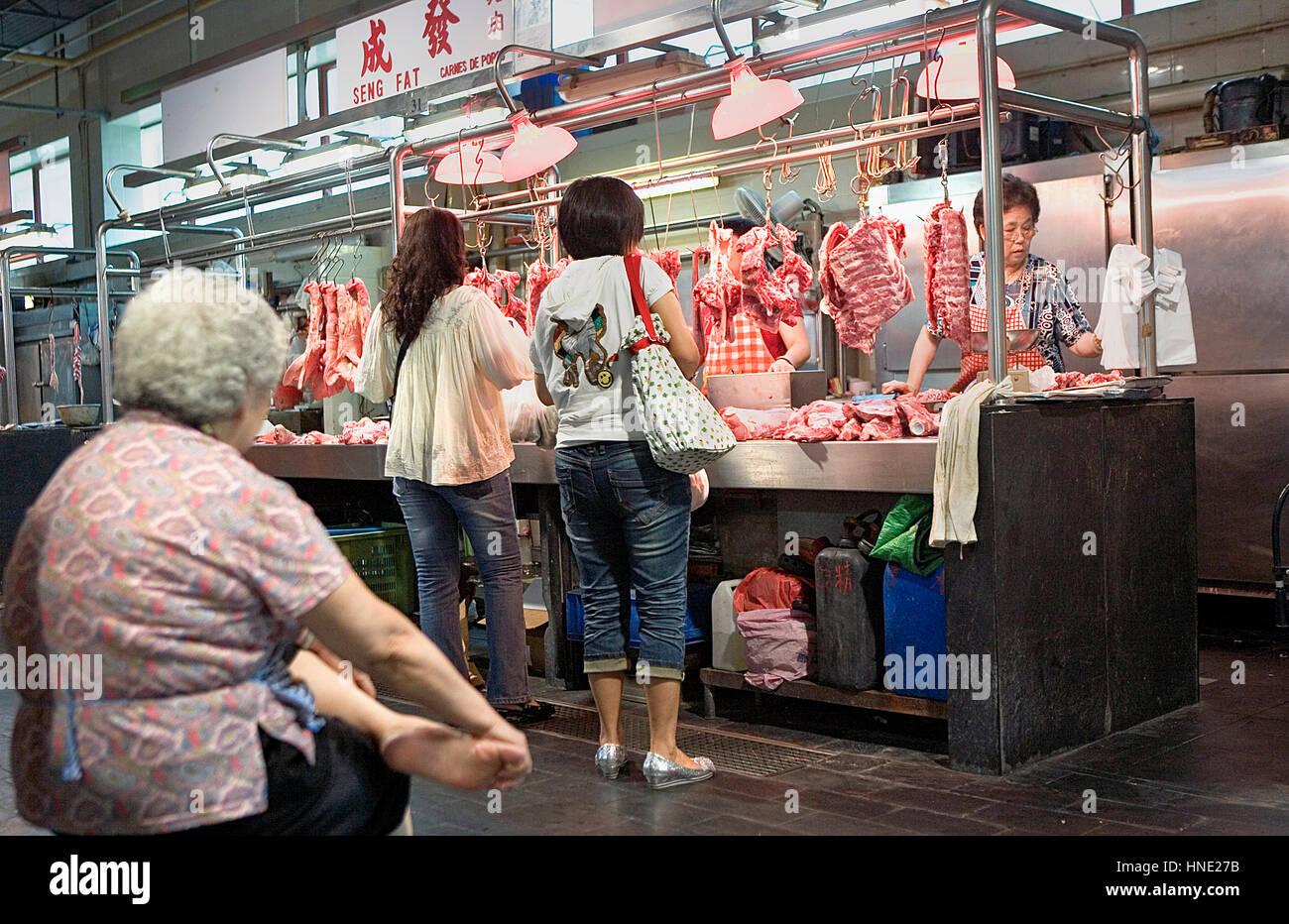 Sao Domingos market,Macau,China - Stock Image