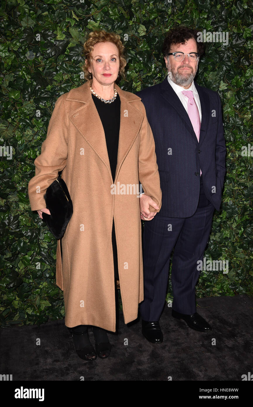 J. Smith-Cameron and Kenneth Lonergan attending the Charles Finch and Chanel hosted pre-BAFTA party at Annabel's - Stock Image