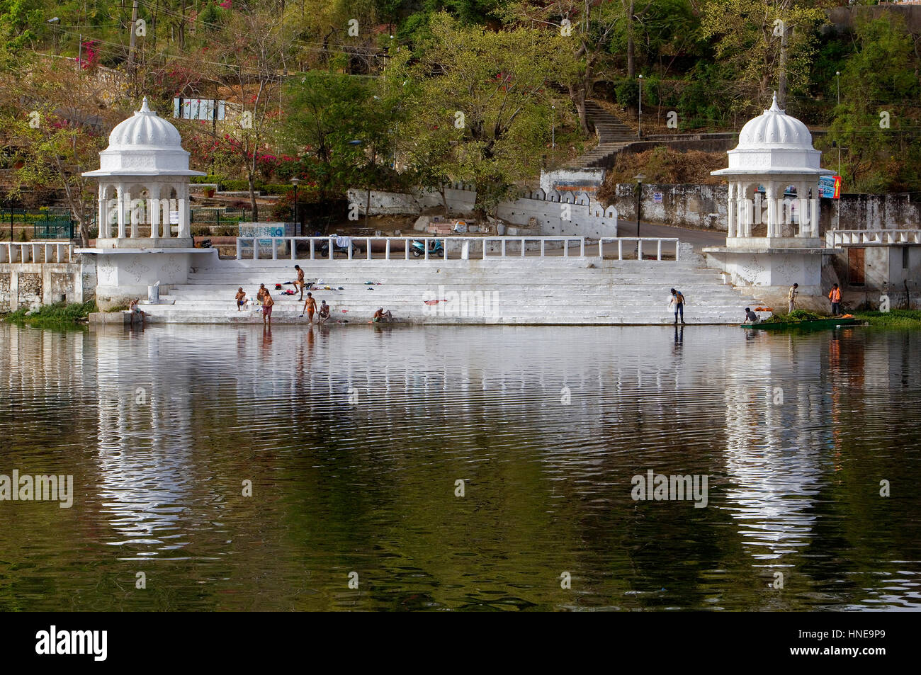Dudh Talai lake, in Asiad park,Udaipur, Rajasthan, india - Stock Image