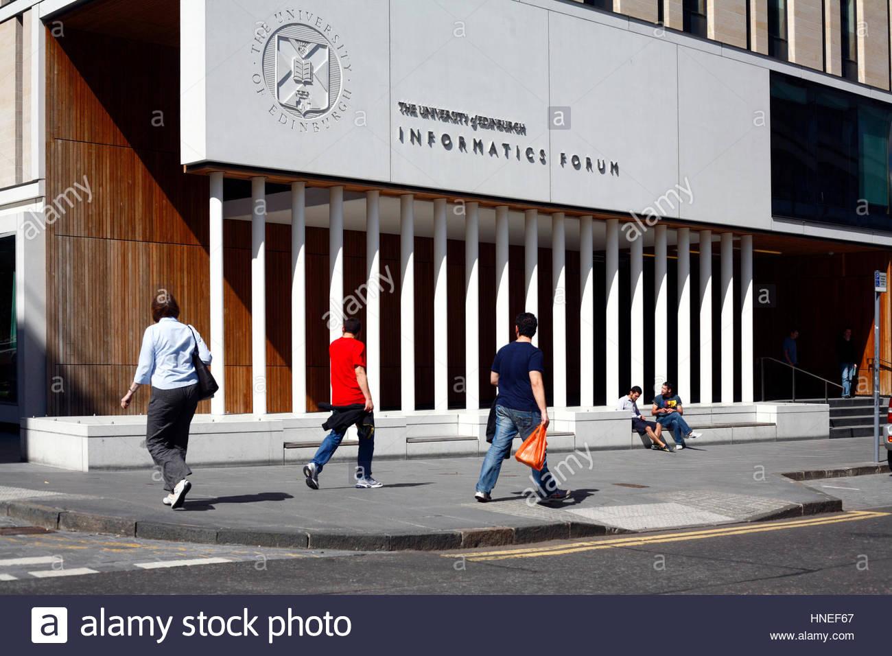 Informatics Forum building, Edinburgh University - Stock Image