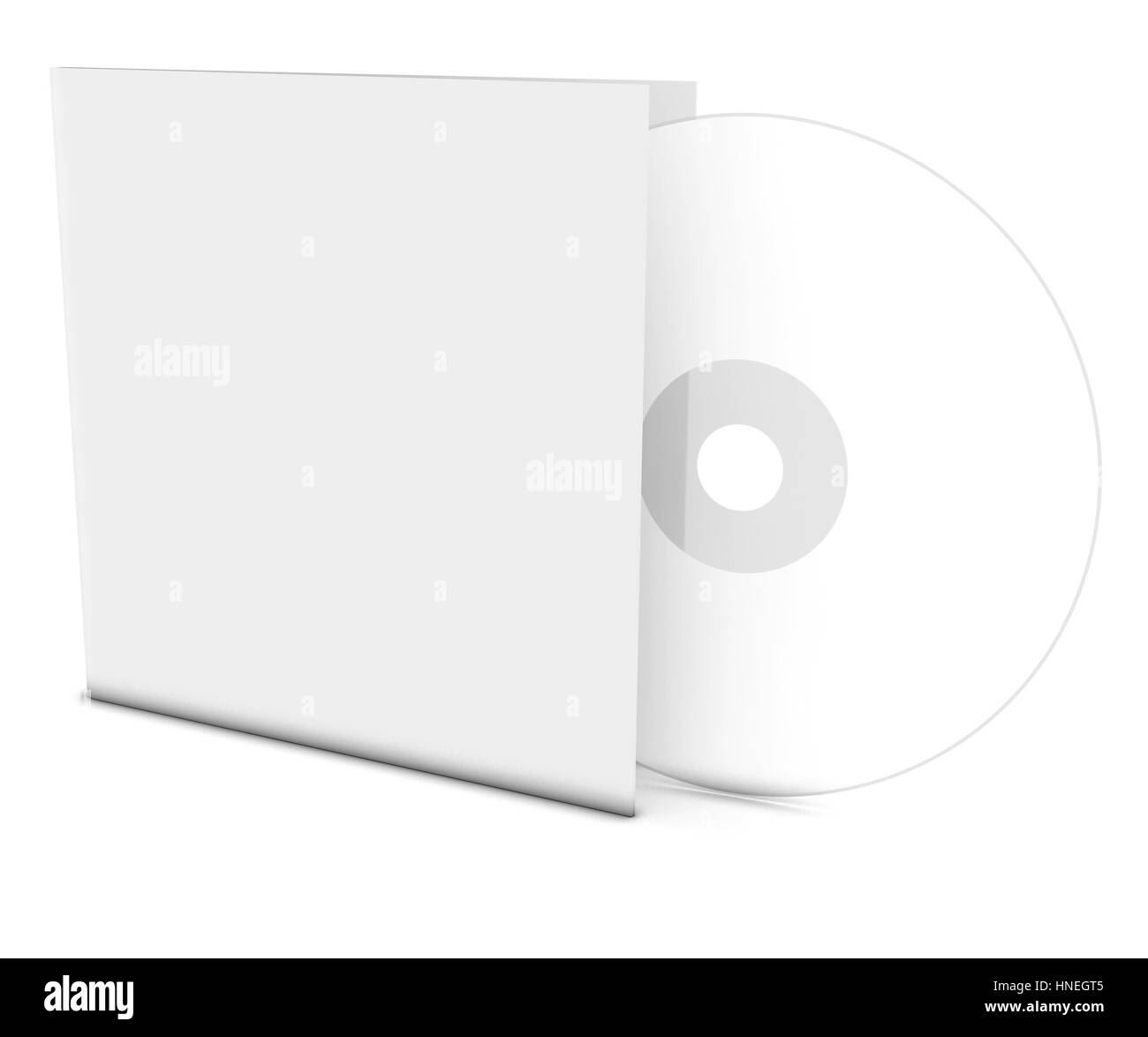 Blank compact disk - Stock Image