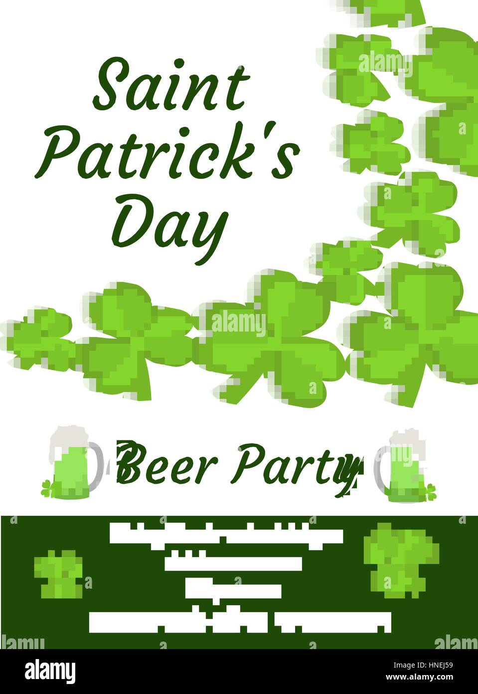 happy st patrick s day invitation poster flyer beer party stock