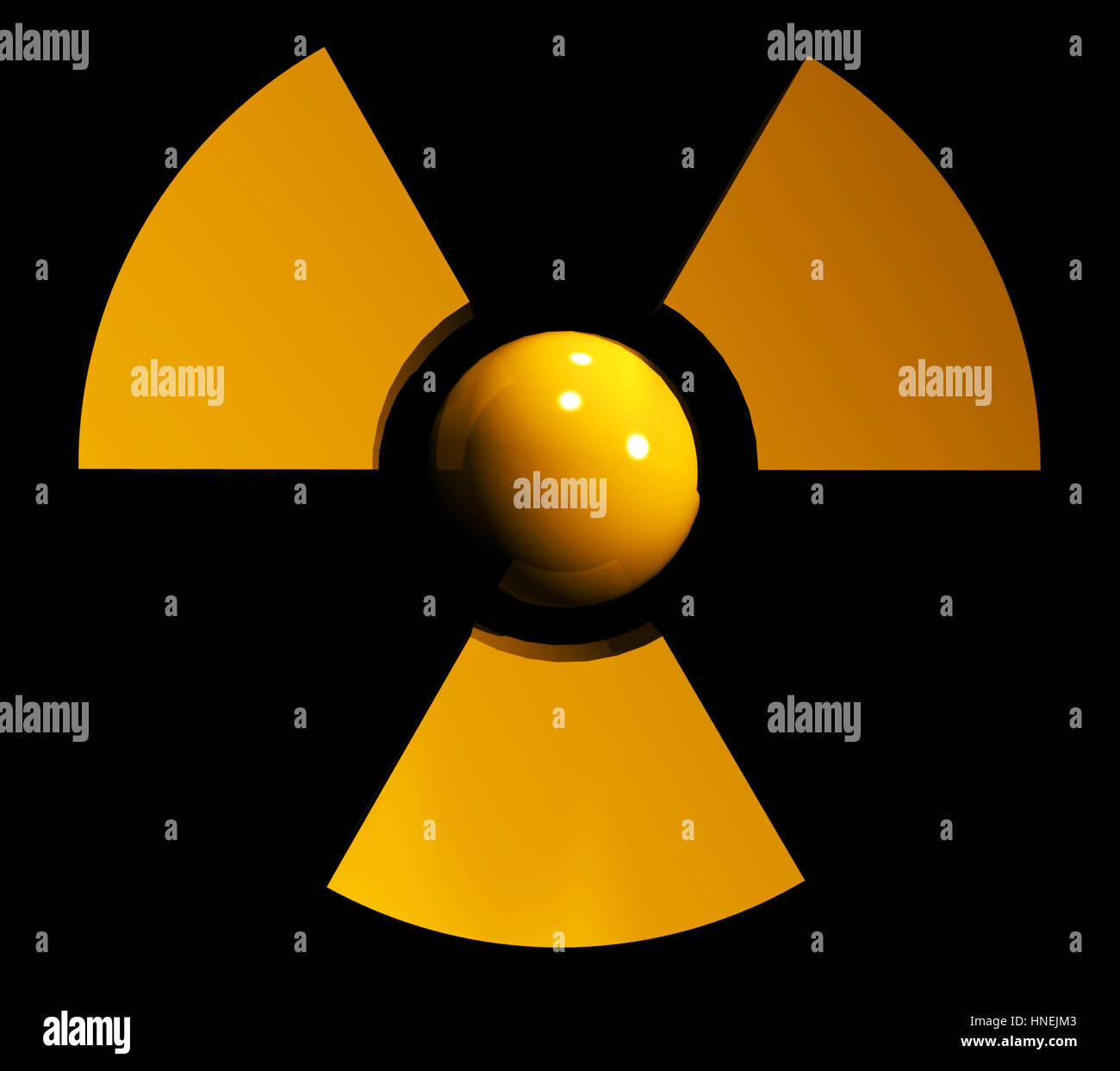 sign of radiation Stock Photo