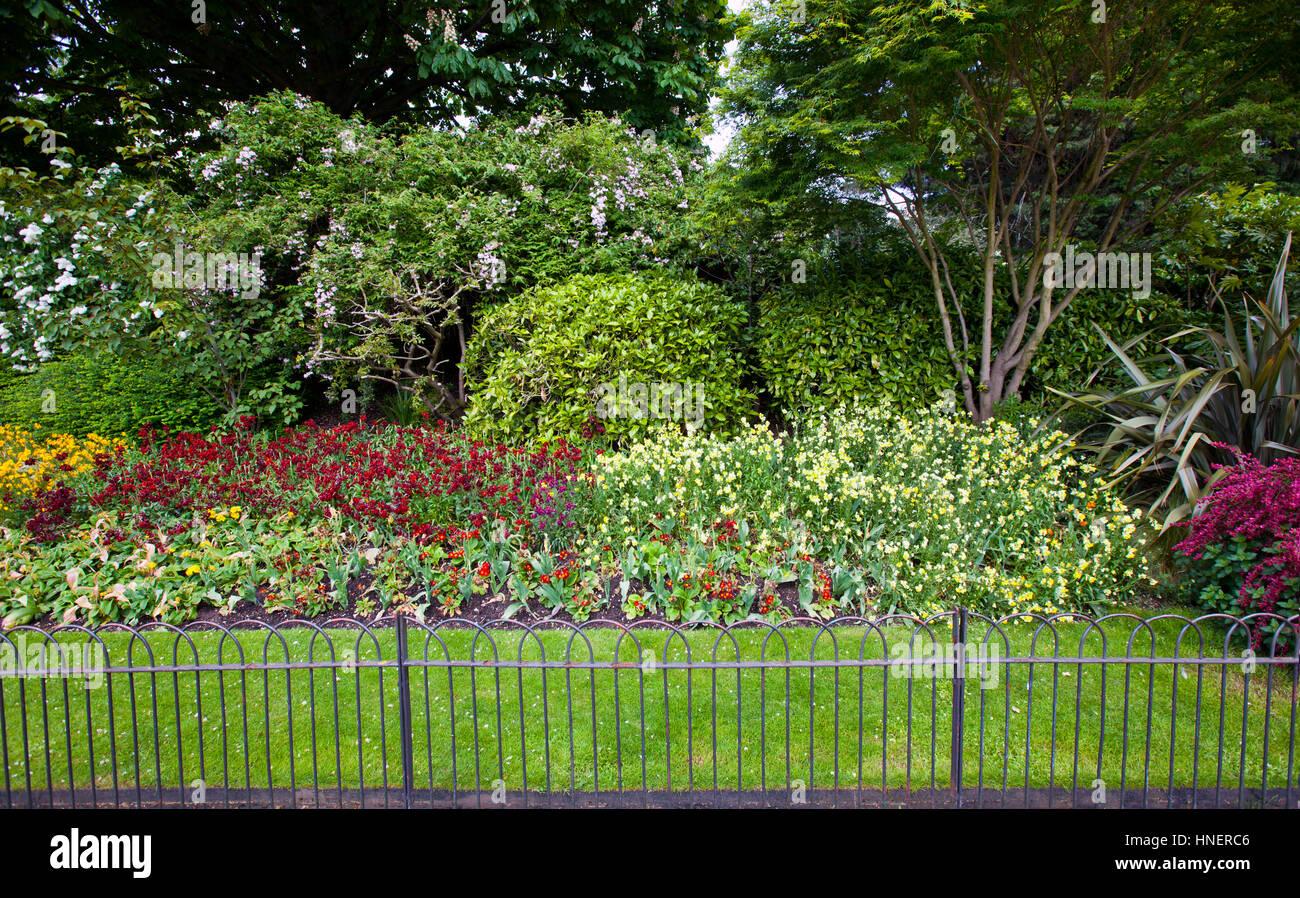 Small Display Garden Fence Stock Photos Small Display Garden