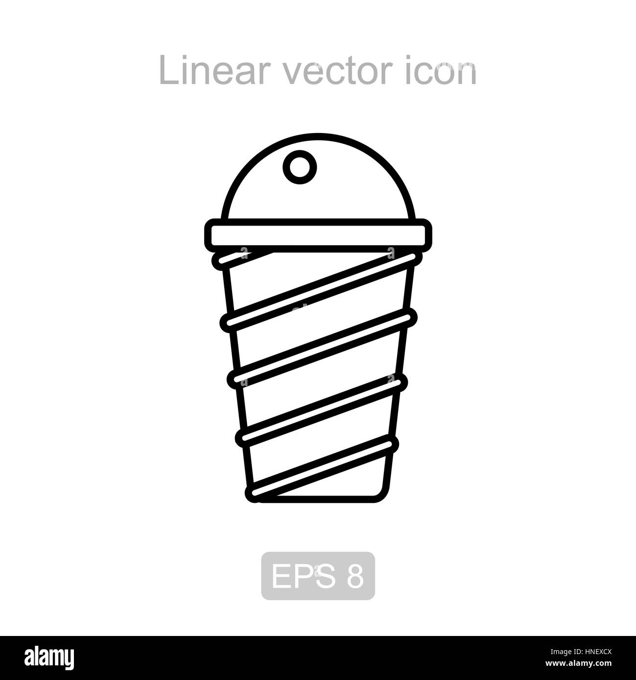 Icon of the ice cream in a linear style - Stock Vector