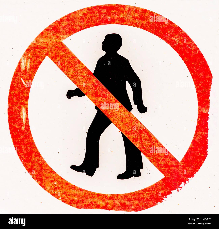 Prohibition sign, access prohibited - Stock Image