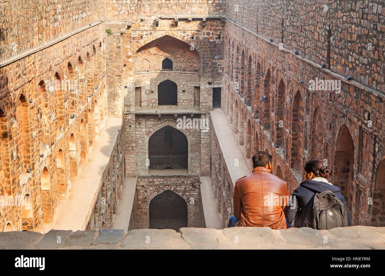 Agrasen ki Baoli, baori, baoli o baodi, Delhi, India - Stock Image