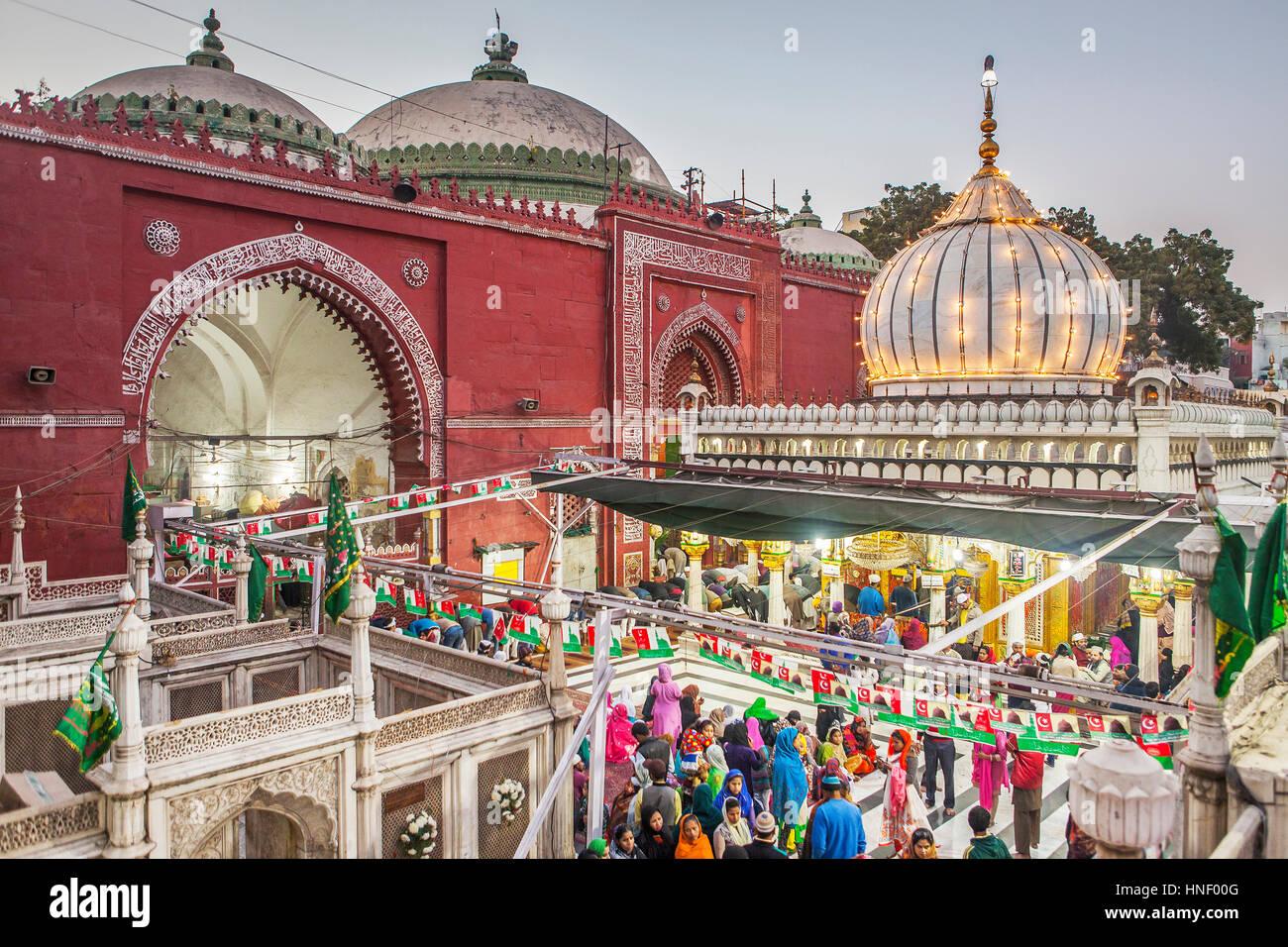 Hazrat Nizamuddin Dargah, Delhi, India Stock Photo