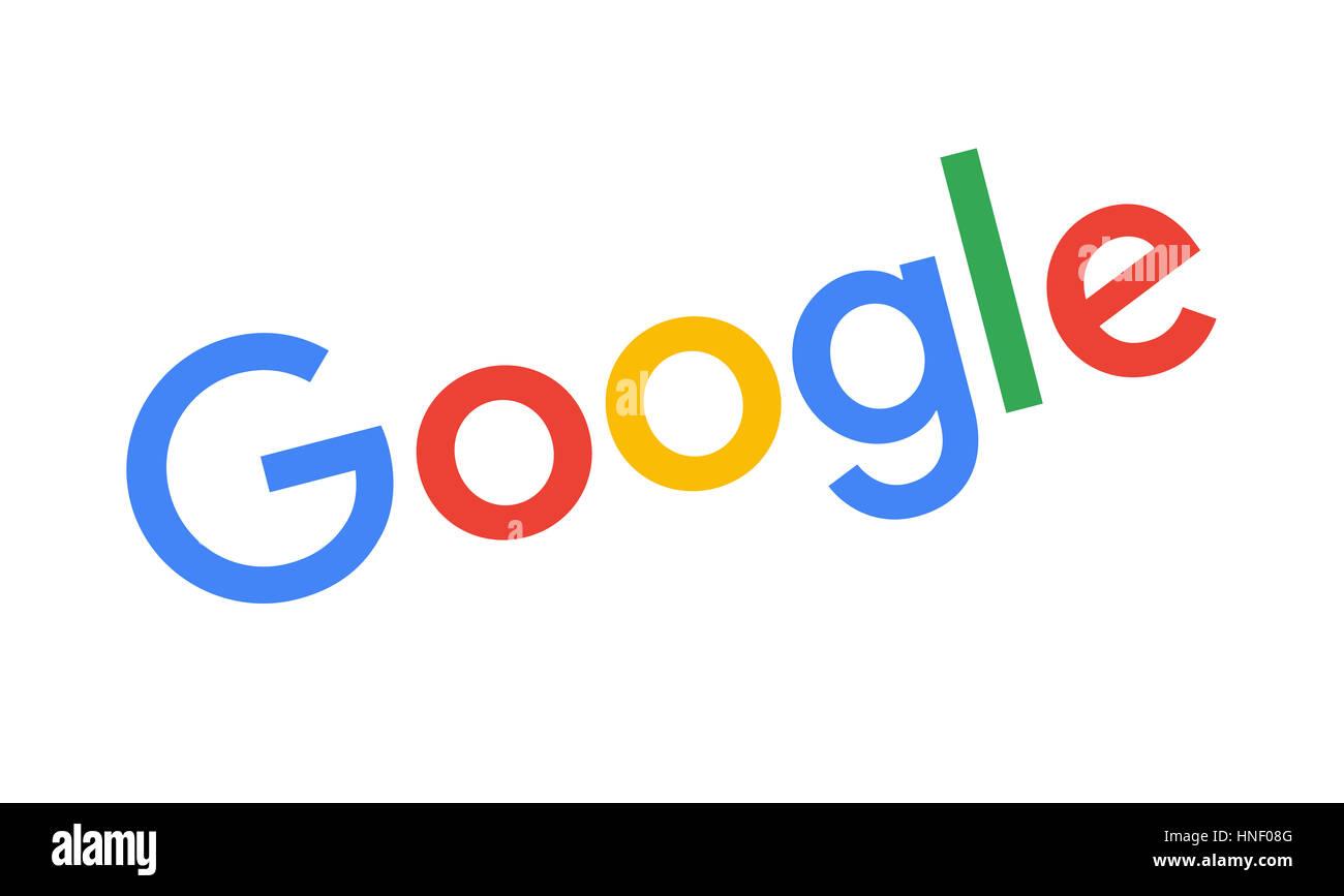 Google logo, search engine, corporate identity, logo, cutout - Stock Image