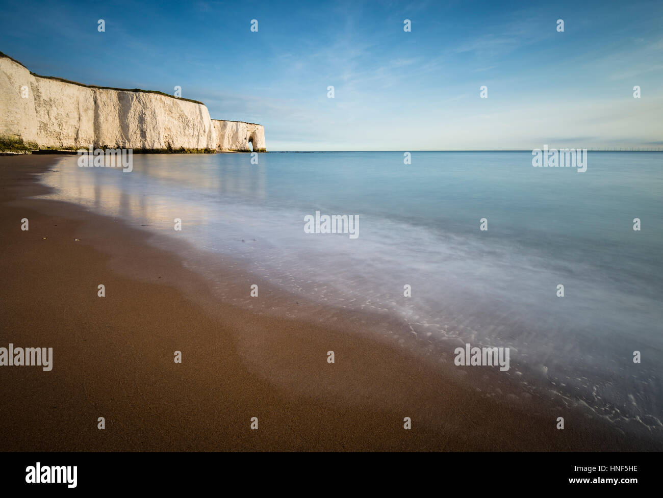 The white cliffs of Kingsgate Bay, Broadstairs,Kent - Stock Image