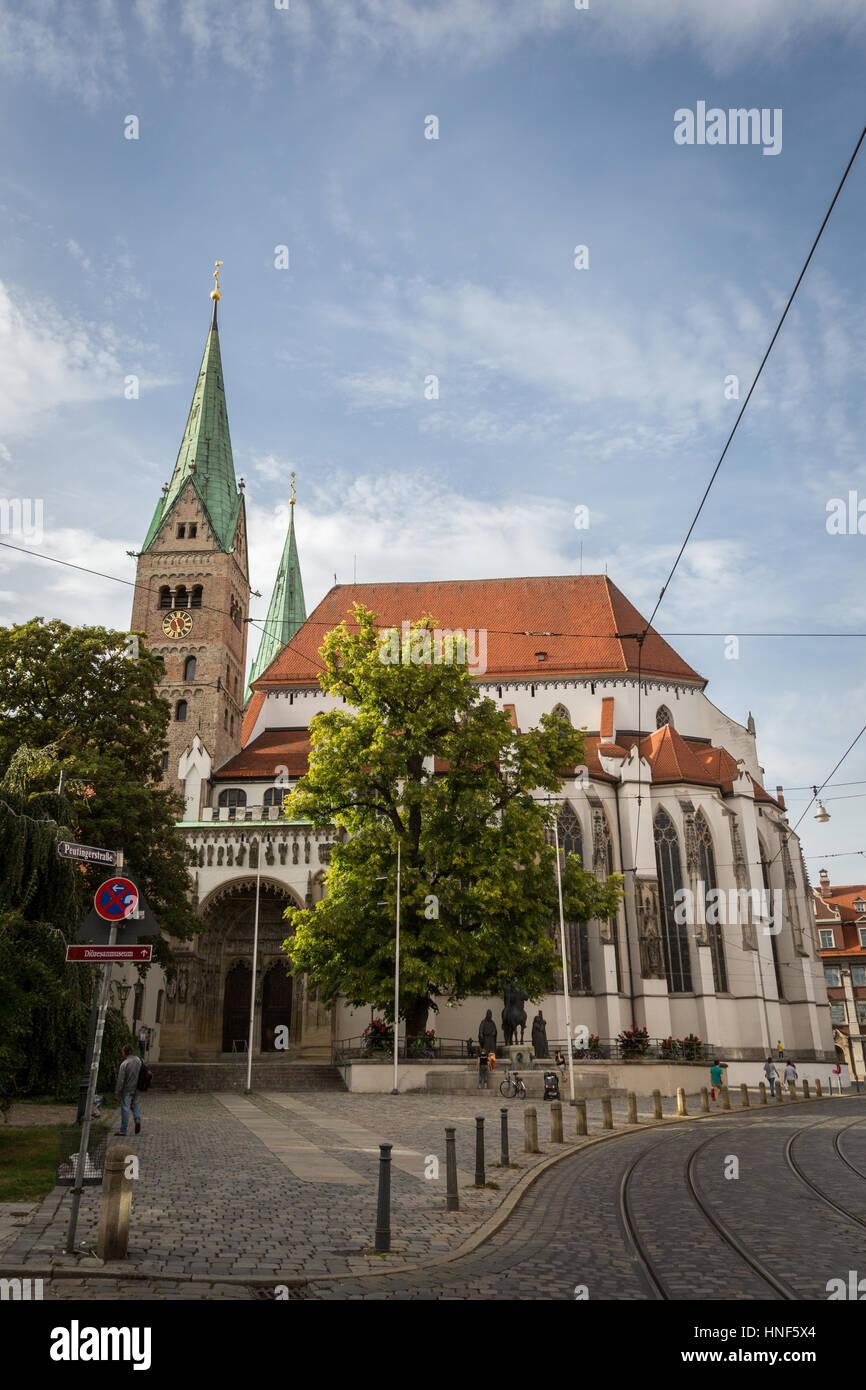 Hoher Dom zu Augsburg, Germany, Europe. - Stock Image