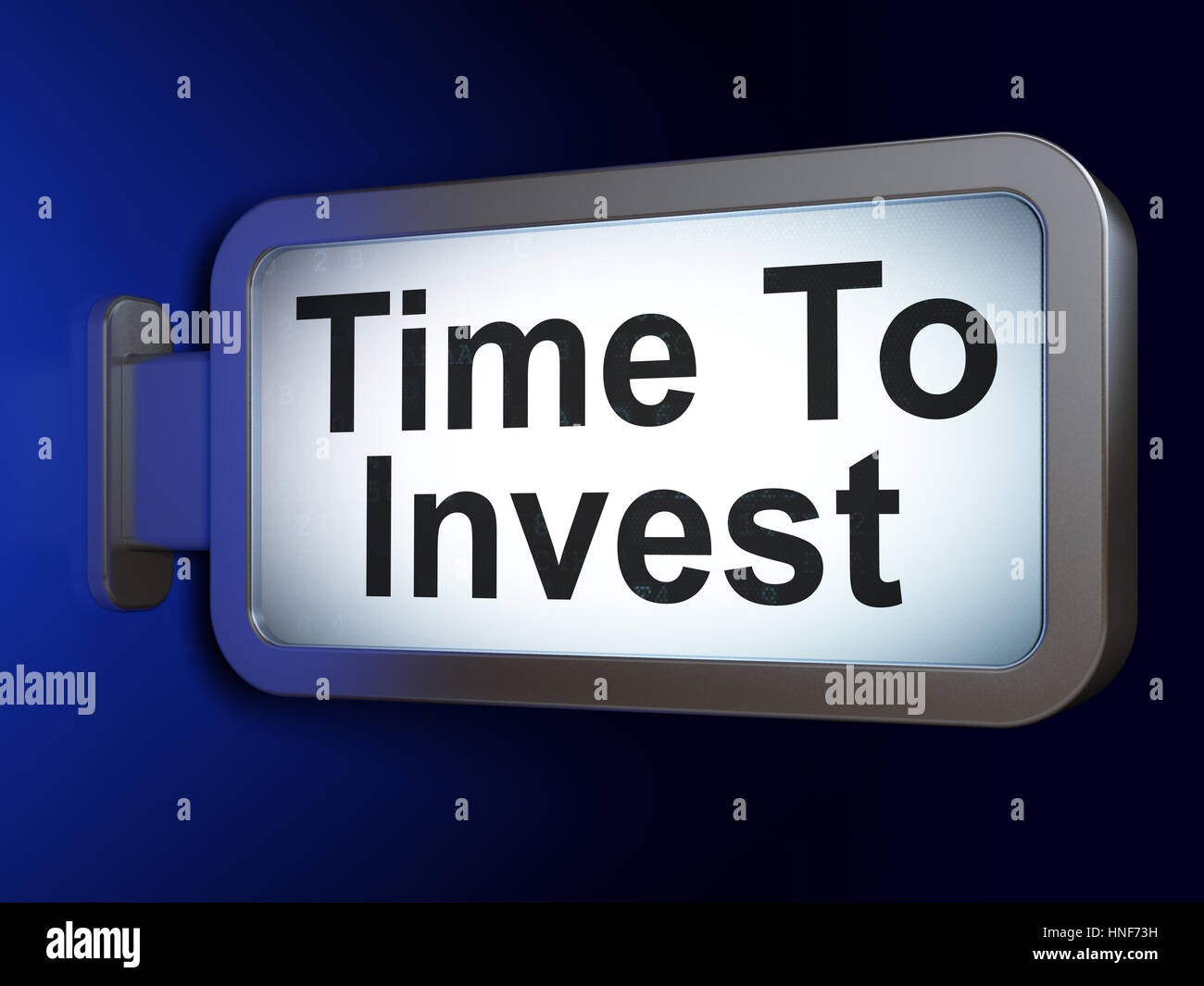 Time concept: Time To Invest on advertising billboard background, 3D rendering - Stock Image