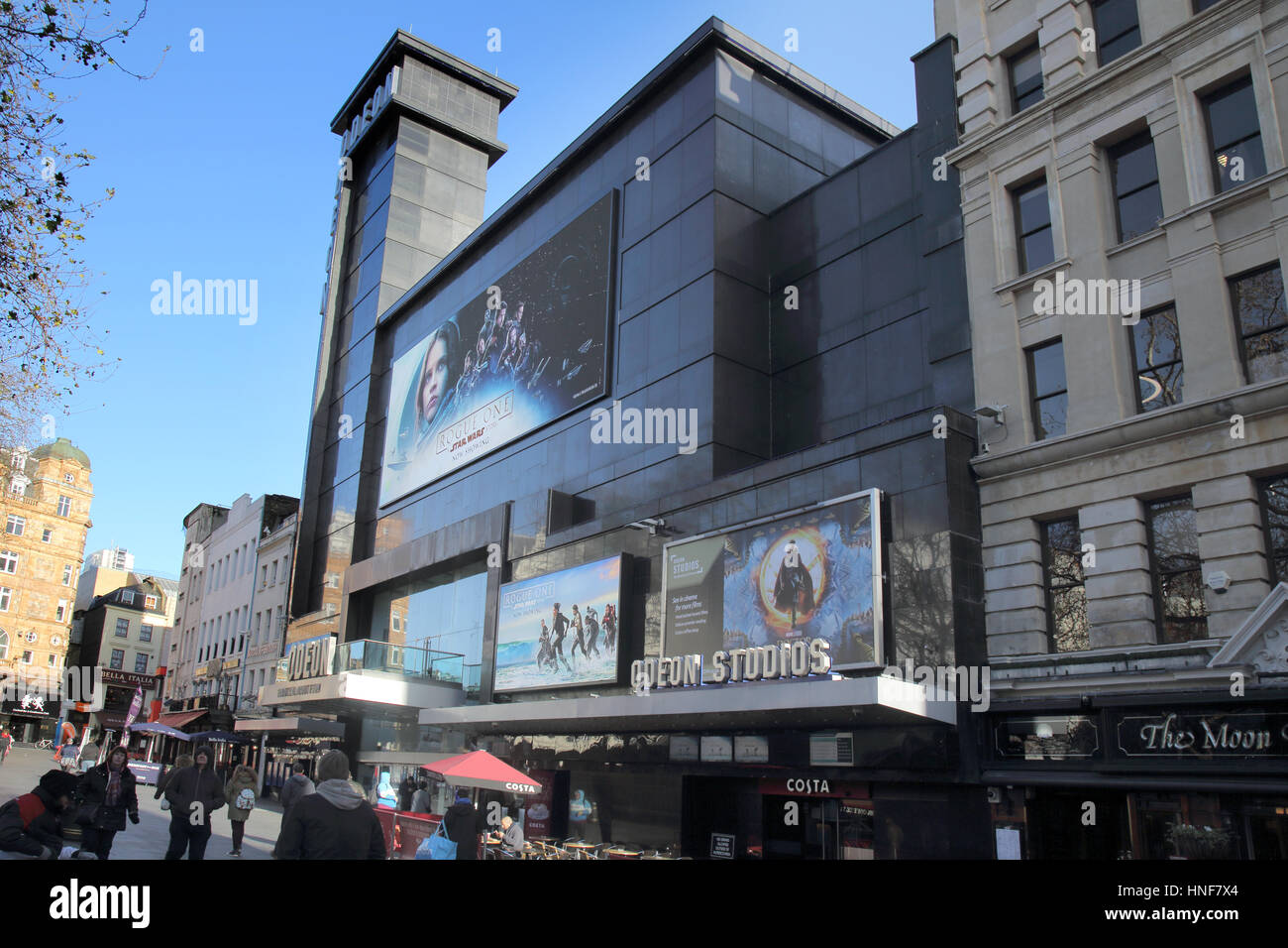 the odeon cinema leicester square london - Stock Image