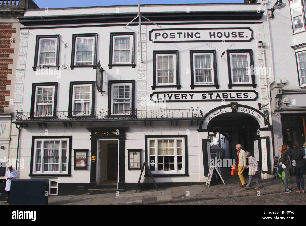 The Angel Hotel High Street Guildford Surrey - Stock Image
